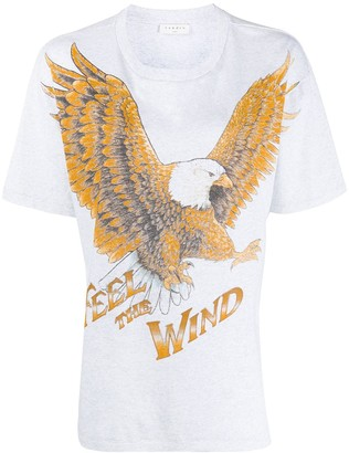 Sandro Paris short sleeve eagle print T-shirt