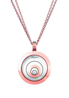 Chopard 18k 2-Tone Happy Sport Large Pendant Necklace w/ Diamond