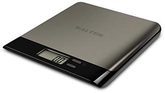 Salter Pro Digital Kitchen Scales - Electronic Food Weighing, Slim Design Cooking Scale Home Appliance, LCD Display, Add & Weigh, Compact Storage, Easy to Clean, 15 Year Guarantee - Stainless Steel