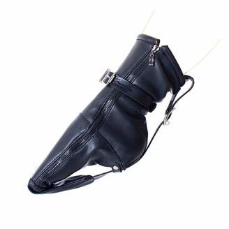 Dominate All Stars Dominate All-Stars Lock Buckle Foot Section Constraint Zipper Black Leather Toy Props