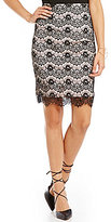 Takara Lace Pencil Skirt