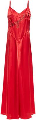 MM6 MAISON MARGIELA Glitter-embellished Satin Maxi Dress