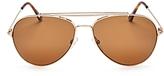 Tom Ford Polarized Aviator Sunglasses, 59mm