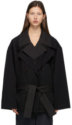 Lemaire Black Trench Blouson Jacket