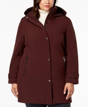 Calvin Klein Size Water Resistant Hooded Raincoat