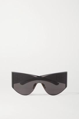 Balenciaga Cat-eye Studded Acetate Sunglasses - Gray