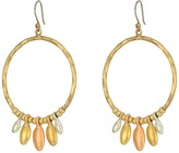 Lucky Brand Tri-Tone Dangle Hoop Earrings Earring