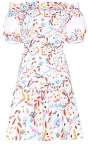 Peter Pilotto Printed cotton off-the-shoulder dress