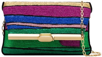 BIENEN-DAVIS PM striped clutch bag