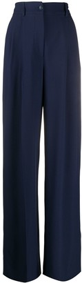 Alberta Ferretti High-Rise Pleated Wide-Leg Trousers