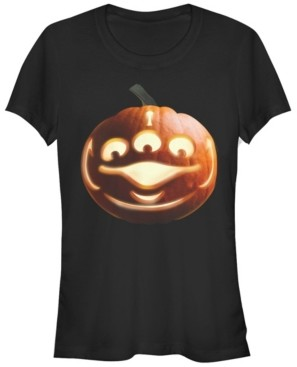Fifth Sun Disney Pixar Women's Toy Story Aliens Face Halloween Short Sleeve Tee Shirt