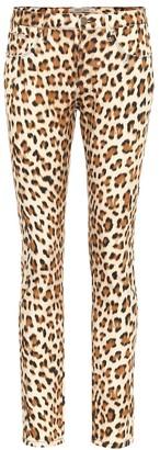 Roberto Cavalli Leopard-print high-rise skinny jeans
