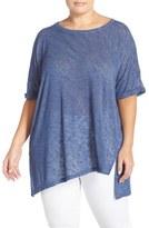 Bobeau Plus Size Women's Asymmetrical Hem Tee