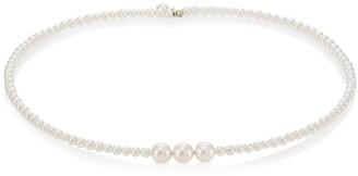 Mizuki 14K Gold & 3.5mm Akoya White Pearl Choker Necklace
