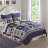 Sports Twin Quilt Set in Denim/Khaki
