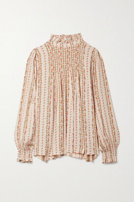 See By Chloe - Pleated Floral-print Crepe Blouse - Pink