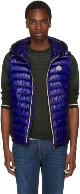 Moncler Blue Down Gien Vest
