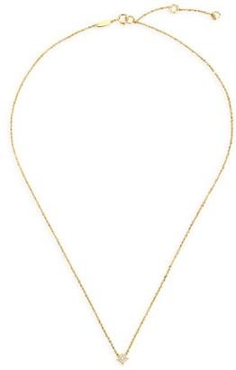 Celara Aurora 14K Yellow Gold & Diamond Pave Star Necklace