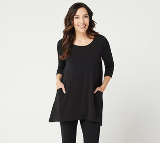 Susan Graver Modern Essentials Liquid Knit Hi-Low Tunic