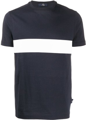 Fay short sleeve two tone T-shirt