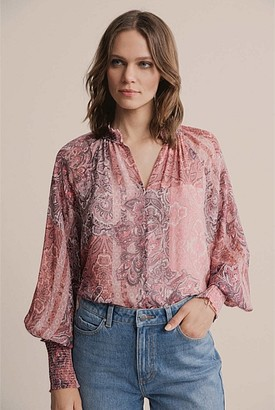 Witchery Print Georgette Blouse