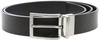 Emporio Armani Brown Leather Belt With Logo Detail