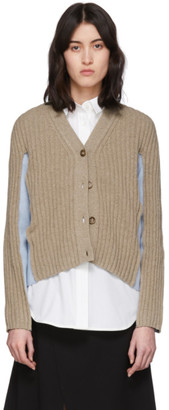 Maison Margiela Beige and Blue Shadow Cardigan