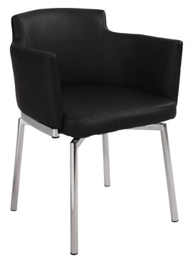 Wade Loganâ® Dusty Upholstered Dining Chair (Set of 2) Wade LoganA Upholstery Color: Black