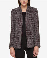 Tommy Hilfiger Open-Front Tweed Blazer