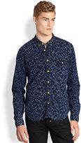 PRPS Copstick-Print Button-Front Shirt