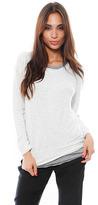 Monrow Layered Sweatshirt in Natural