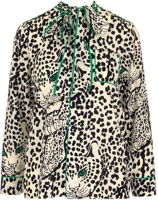 RED Valentino Leopard Print Blouse Top