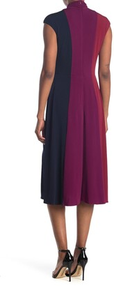 Maggy London Tri-Color Midi Dress