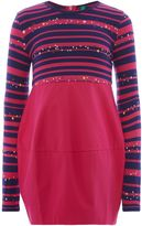 Benetton Girls Stripe Star Print Dress