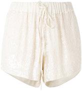 P.A.R.O.S.H. drawstring sequin shorts - women - Viscose/PVC - S