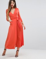 Asos Wrap Maxi Dress in Jersey Crepe
