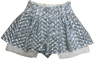 MCM Silver Glitter Shorts for Women