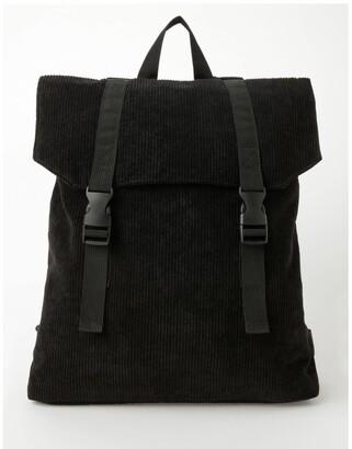 Miss Shop Corduroy Flap Over Backpack Bag