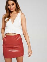 Dotti City Slick Pu Mini Skirt