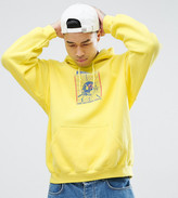 Crooked Tongues Hoodie In Yellow Overdye With Back Print