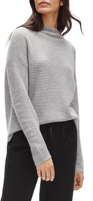 Eileen Fisher Funnel Neck Boxy Cashmere Sweater