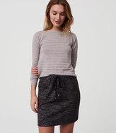 LOFT Petite Cozy Drawstring Skirt