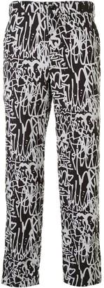 Comme des Garcons Graffiti-Print Trousers