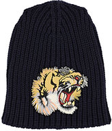 Gucci Men's Roaring Tiger English Rib-Knit Beanie