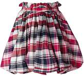 Alexander McQueen checked flared skirt