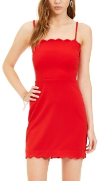 B. Darlin Juniors' Scalloped Bodycon Dress