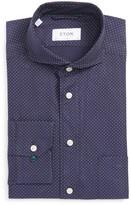 Eton Men's Slim Fit Microdot Dress Shirt