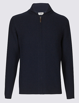 M&S Collection Wool Rich Zipped Through Cardigan