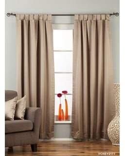 """Indian Selections Brownish Gray Tab Top 90% blackout Curtain / Drape / Panel - 50X84"""" - Piece - 50 X 84 Inches"""