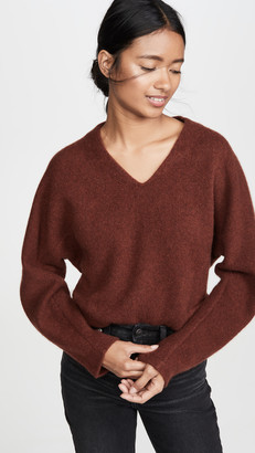 Vince V Neck Cashmere Dolman Sweater